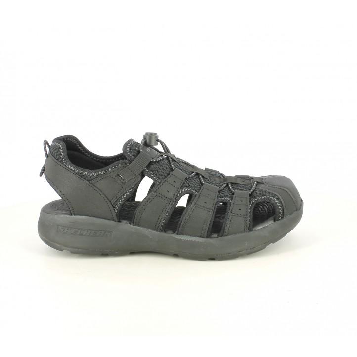 Cerradas Negras Elástico Skechers Sandalias Con rCtQshd