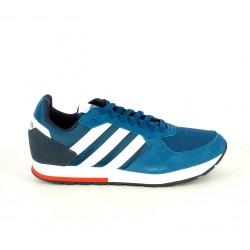 514468185cc Zapatillas deportivas Adidas 8k azules de cordones con franjas blancas -  Querol online