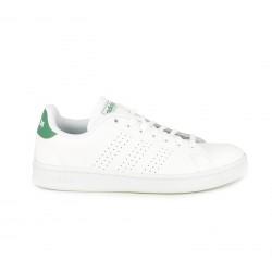 Zapatillas deportivas Adidas advantage blancas con detalle verde - Querol online