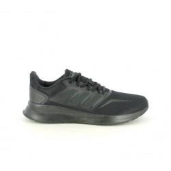 Zapatillas deportivas Adidas falcon core negras con cordones - Querol online