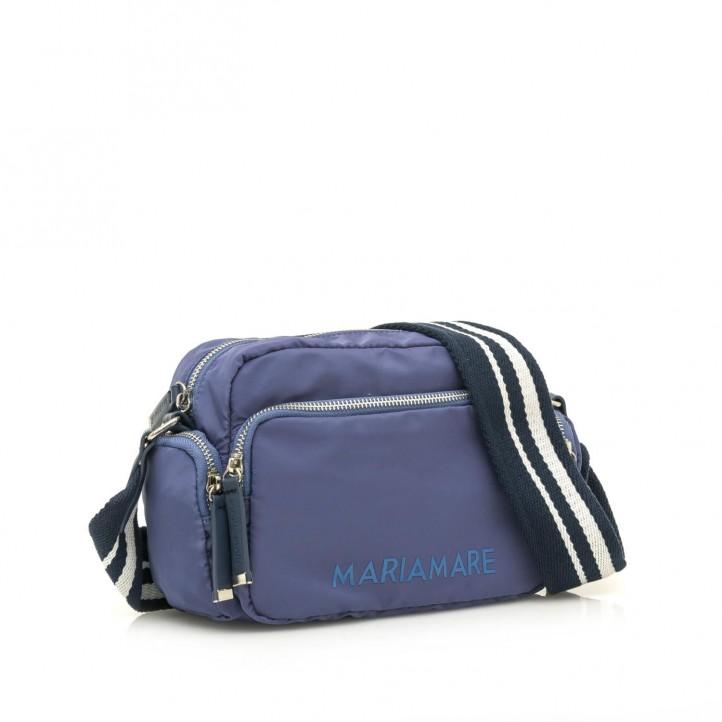 Complementos Maria Mare bolso azul con tres bolsillos exteriores y tira - Querol online