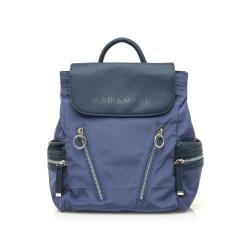 Complementos Maria Mare mochila azul con cremalleras delanteras y laterales - Querol online