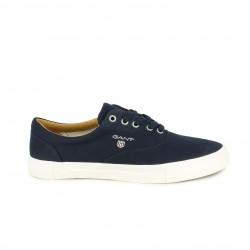 Zapatillas lona GANT azules con suela de piel - Querol online