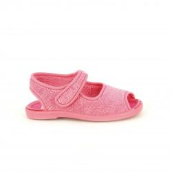 Zapatillas casa Vul·ladi rosas cerradas con velcro - Querol online