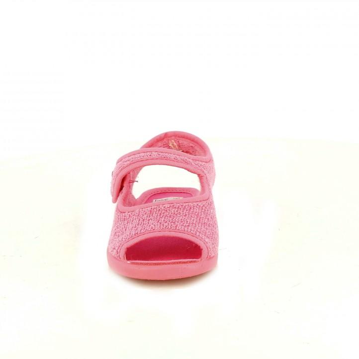 f349ed343b5 ... Zapatillas casa Vul·ladi rosas cerradas con velcro - Querol online ...