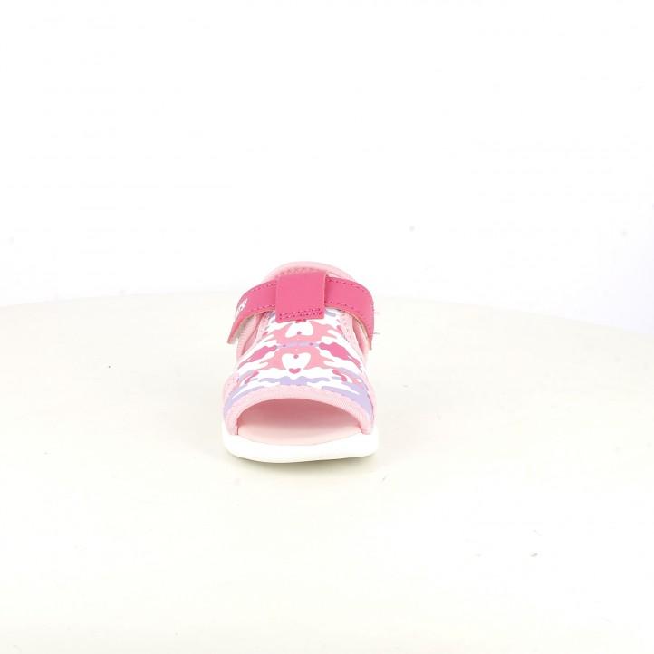 sandalias QUETS! cerradas con estampado camuflaje rosa - Querol online