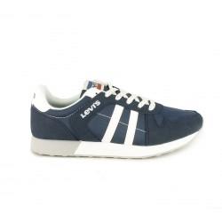 Zapatillas deportivas Levi's azules, blancas y grises con cordones - Querol online