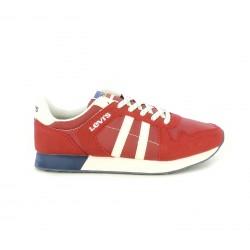 Zapatillas deportivas Levi's rojas, blancas y azules con cordones - Querol online