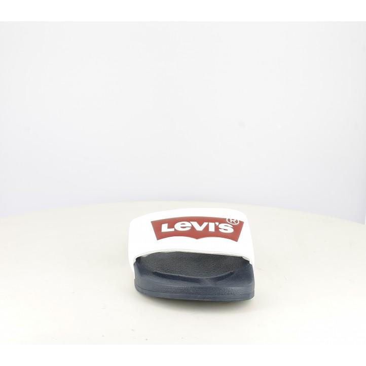 Chanclas Levi's blancas, azules y rojas - Querol online