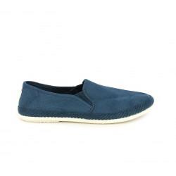 Alpargatas BAMBA azules con suela blanca - Querol online