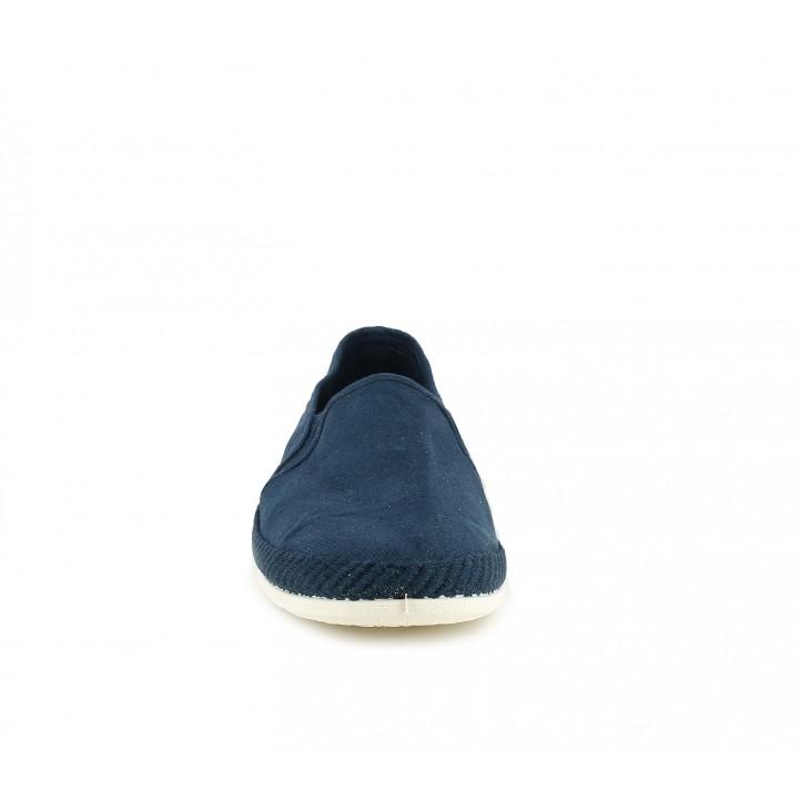 Espardenyes BAMBA blaves amb sola blanca - Querol online