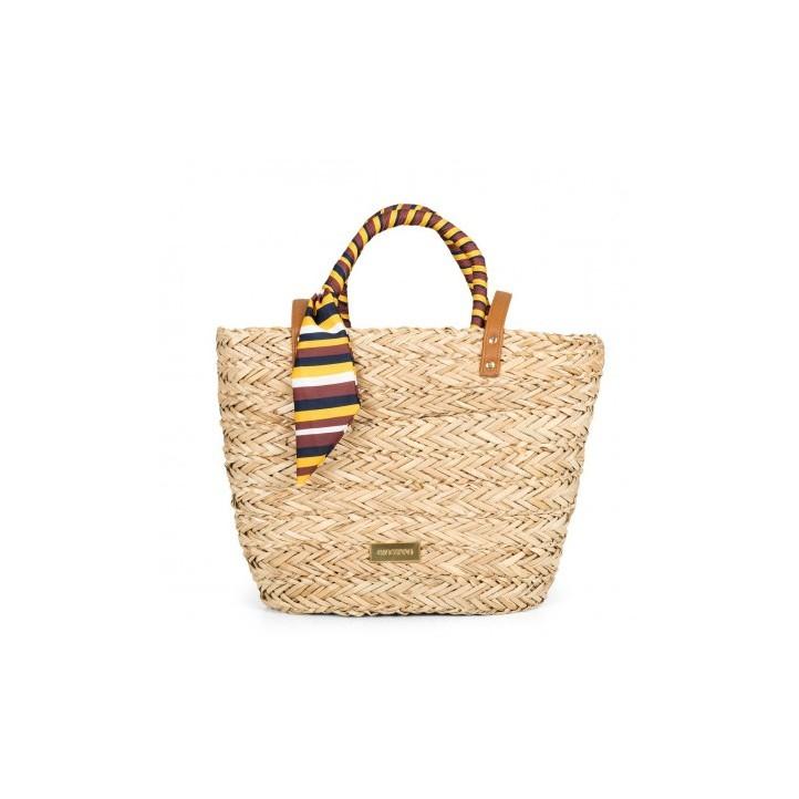Complementos Gioseppo bolso de fibra con pañuelo de rayas - Querol online