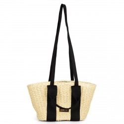 Complementos Gioseppo bolso de fibra con asas negras - Querol online