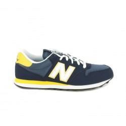 Zapatillas deportivas New Balance 500 azules, blancas y amarillas con cordones - Querol online