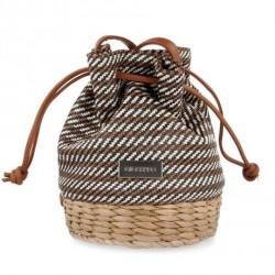 Complements Gioseppo bolso amb trena de fibra marró, blanc i negre - Querol online