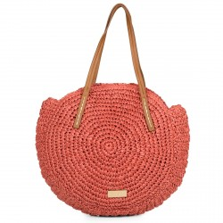 Complements Gioseppo bossa vermella circular de fibra - Querol online