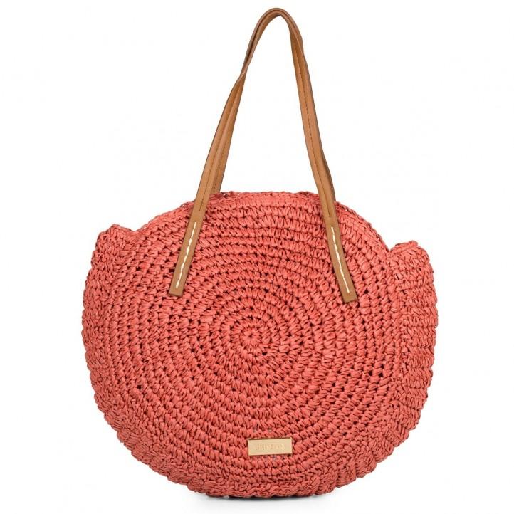 Complementos Gioseppo bolso rojo circular de fibra - Querol online
