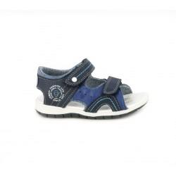 sandalias Chicco azules cerradas con doble velcro - Querol online