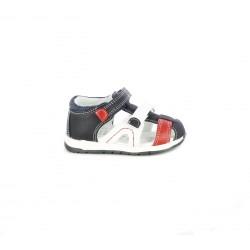 sandalias Chicco cerradas azules, blancas y rojas - Querol online
