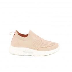 Zapatillas deportivas Xti rosas sin cordones tipo calcetín - Querol online