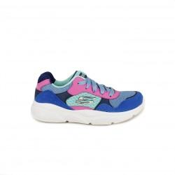 Zapatillas deporte Skechers memory foam azules, verdes y rosas