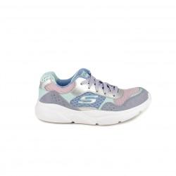 Zapatillas deporte Skechers memory foam lilas, verdes y rosas