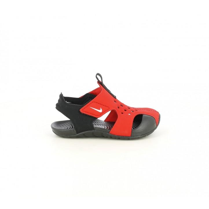 chanclas Nike rojas y negras con velcros - Querol online