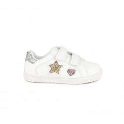 Sabatilles esport Chika 10 blanques amb estrella i cor de purpurina - Querol online