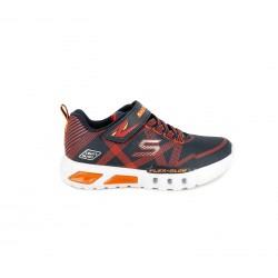 Zapatillas deporte Skechers azules, rojas y naranjas con luces led - Querol online