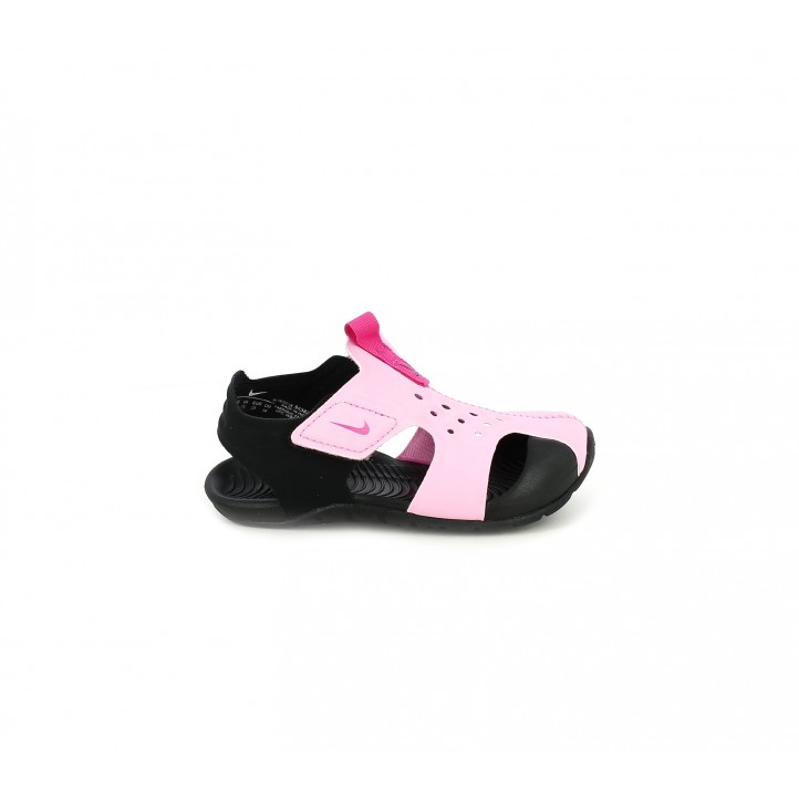Xancletes Nike roses i negres amb velcros - Querol online