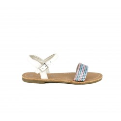 sandalias Sprox blancas con tiras multicolor - Querol online
