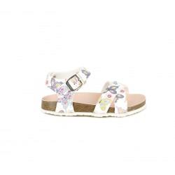sandàlies Pablosky blanques amb estampat de papallones - Querol online