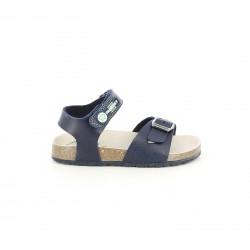 sandàlies Pablosky blau marí amb velcro i sivella - Querol online