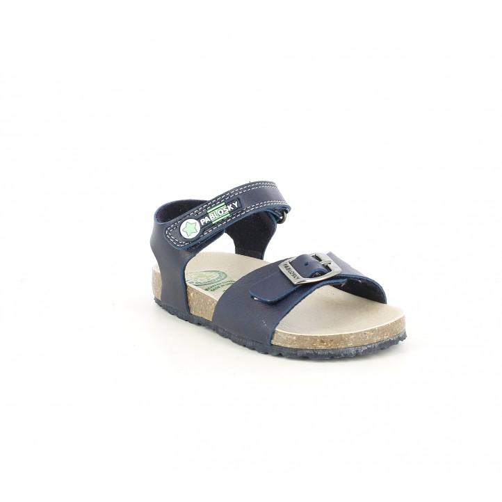 sandalias Pablosky azul marino con velcro y hebilla - Querol online
