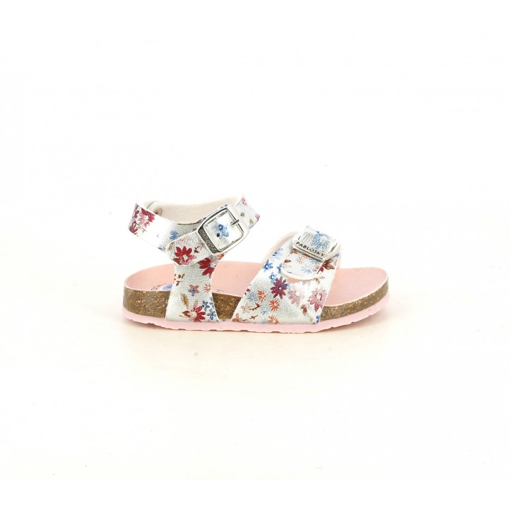 sandalias Pablosky plateadas con estampado de mariposas - Querol online