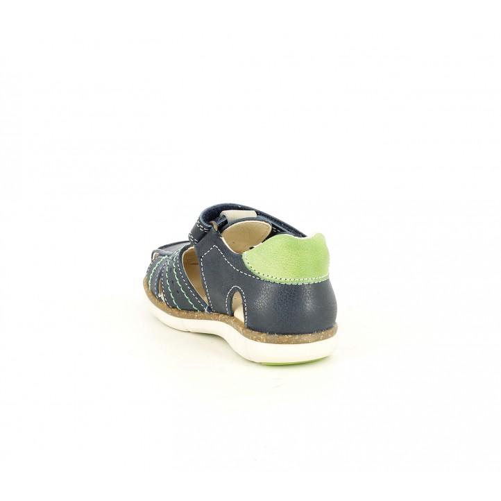 sandalias Pablosky azules y verdes de piel - Querol online