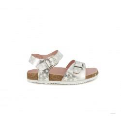 sandalias K-Tinni plateadas con estrellas y hebillas - Querol online