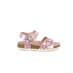 sandalias K-Tinni rosas con estrellas y hebillas - Querol online