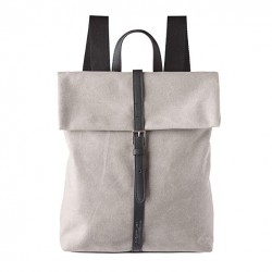 Complementos Slang Barcelona mochila gris con tiras negras - Querol online