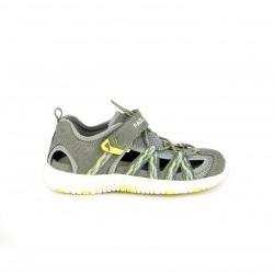 sandàlies Pablosky grises, blanques i grogues amb elàstics - Querol online