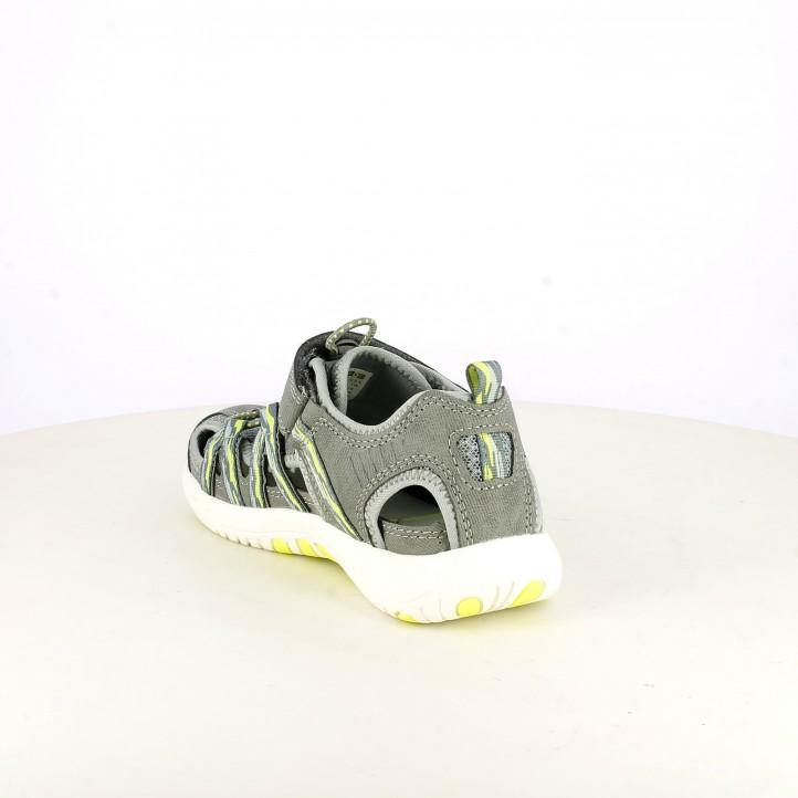 sandalias Pablosky grises, blancas y amarillas con elásticos - Querol online