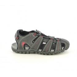 Sandalias Geox cerradas negras y rojas con elásticos - Querol online