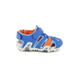 sandalias Geox cerradas azules y naranjas con elásticos - Querol online