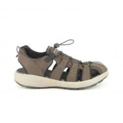 Sandàlies Skechers marrons tancades amb elàstic - Querol online