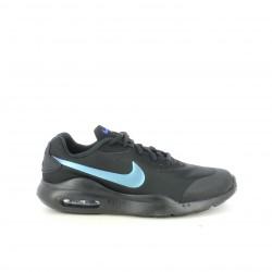 Zapatillas deportivas Nike air negras y azules con cordones - Querol online