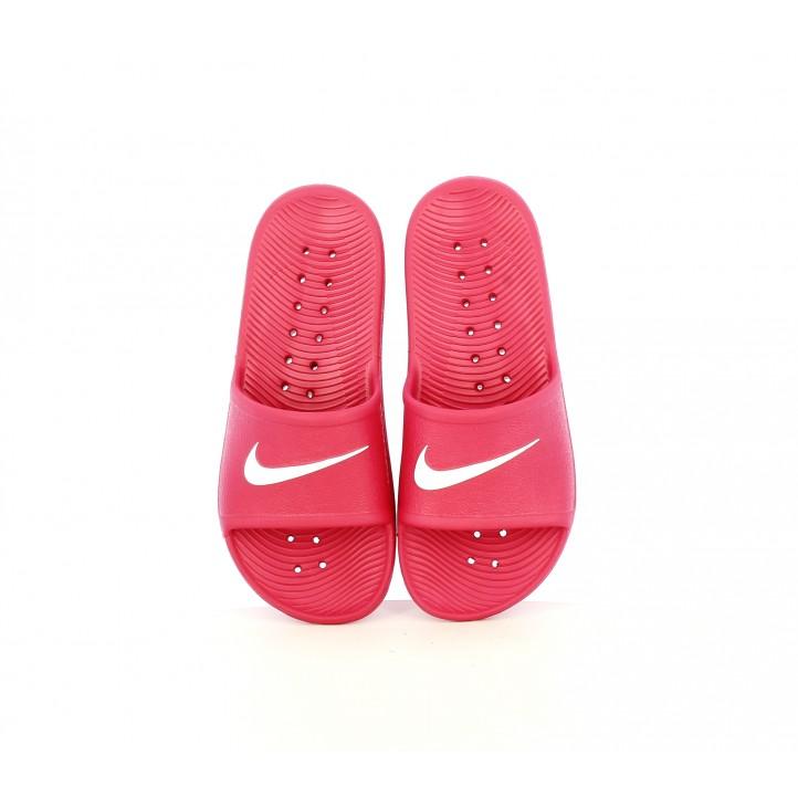 Chanclas Nike fuscia y blancas - Querol online