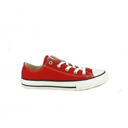 Zapatillas lona Converse all star bajas rojas - Querol online