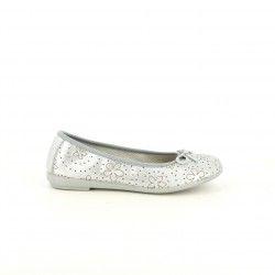 Bailarinas Vul·ladi grises metalizadas de piel - Querol online