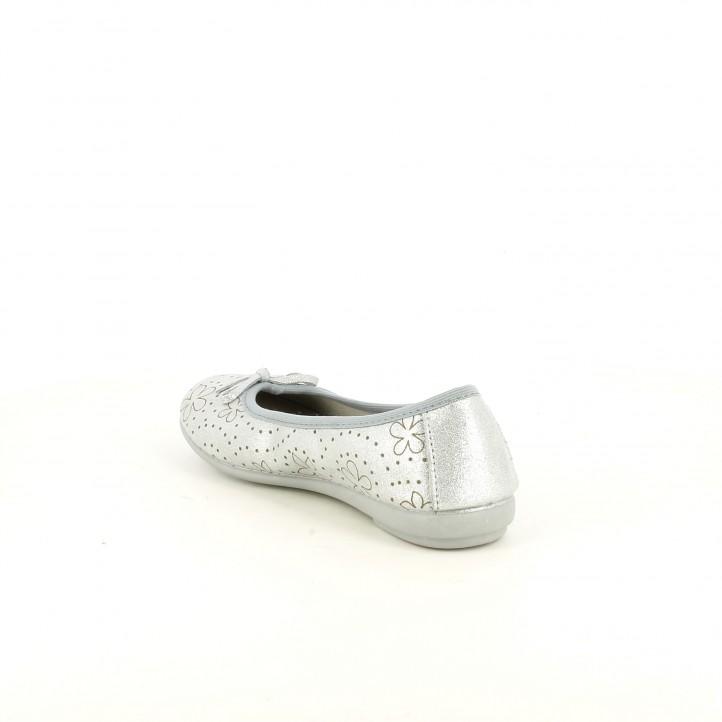 Ballarines Vul·ladi grises metal·litzades de pell - Querol online
