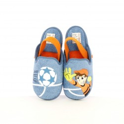 Zapatillas casa Vul·ladi azules y naranjas con dibujos - Querol online
